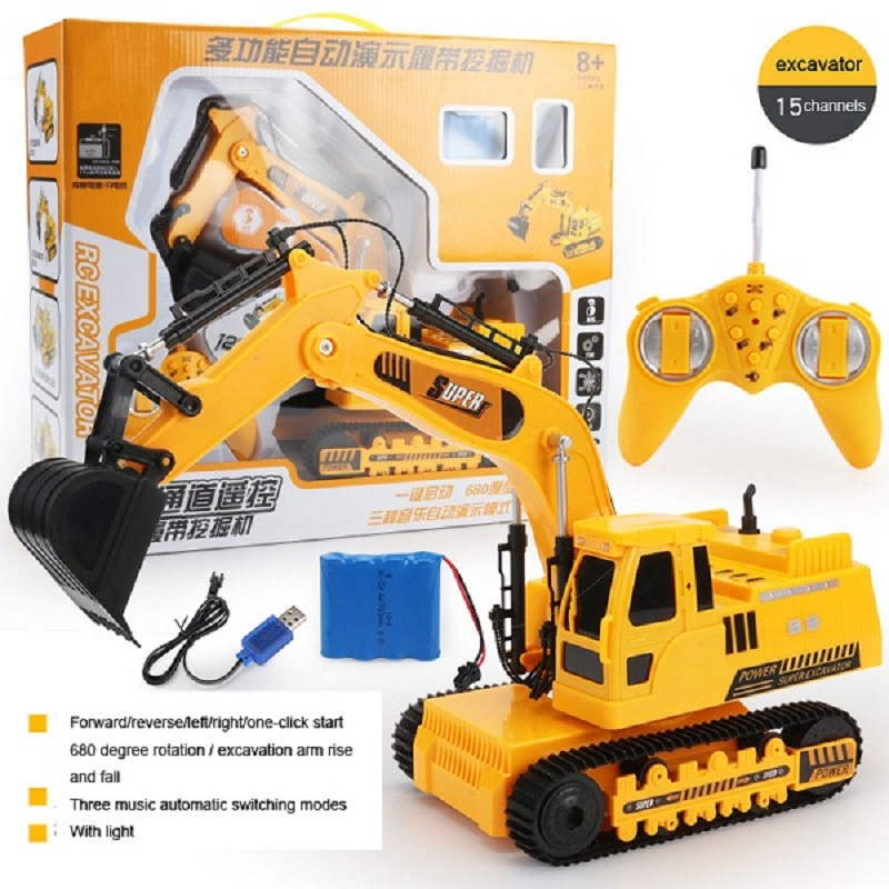 Image 4 - Wireless Remote Control Car Engineering Vehicle 12 Channels Mining Hook Machine Charging Forklift Bulldozer Model Rc Toy Store-in RC Cars from Toys & Hobbies