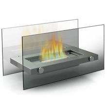 Metal Glasss Crafts Bio-Ethanol  Table Top Fireplace For Indoor And Outdoor Use Home Decoration  KW2304