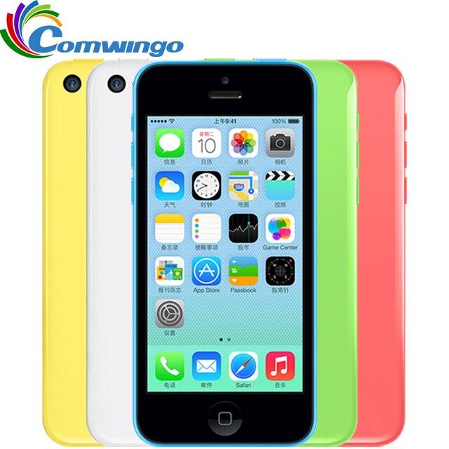 """Оригинальный разблокированный Apple IPhone 5C 32 ГБ + 1 ГБ хранения iPhone 5C GSM HSDPA Dual Core 8 МП Камера 4.0 """"экран iPhone 5C"""