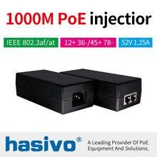 48 W 65 W POE adaptörü Gigabit POE enjektörü Ethernet güç PoE IP Kamera için Telefon kablosuz erişim noktası POE Güç Kaynağı