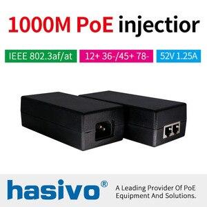 Image 1 - 48 W 65 W POE adaptateur Gigabit POE injecteur Ethernet puissance pour POE IP caméra téléphone sans fil AP PoE alimentation