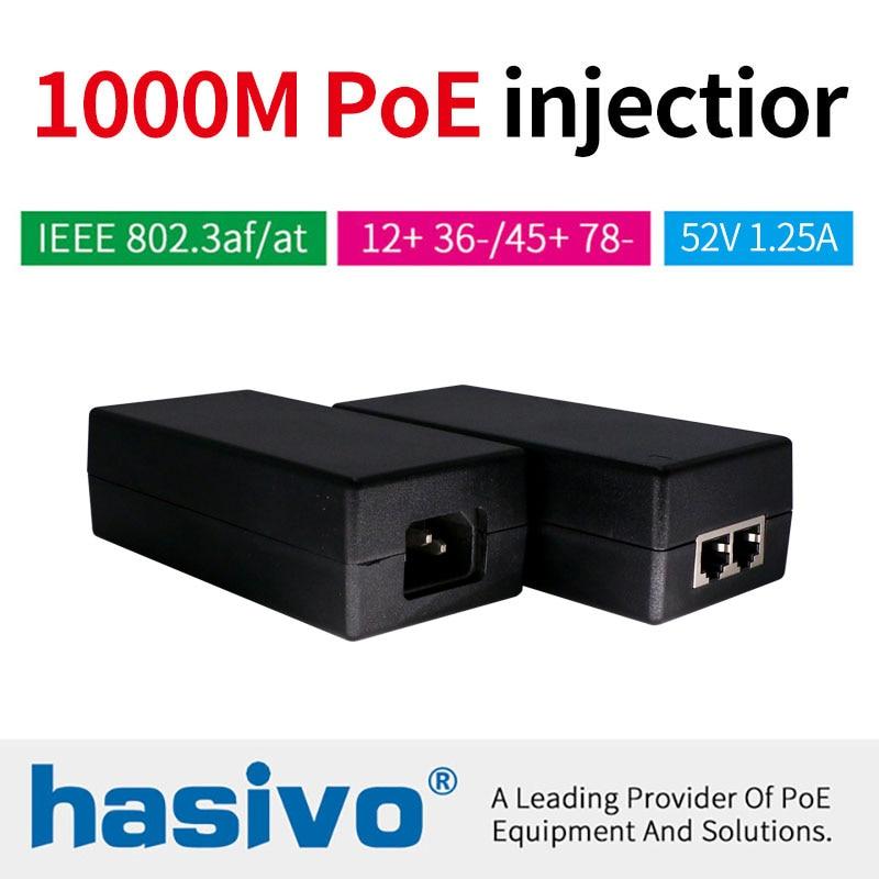 48W 65W POE Adapter Gigabit POE Injector Ethernet Power For POE IP Camera Phone Wireless AP PoE Power Supply