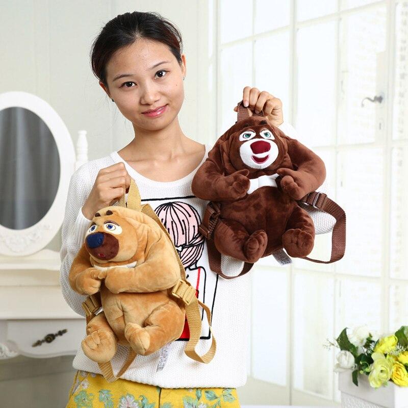Nouveau sac en peluche ours enfants dessin animé épaule petit sac à dos de maternelle
