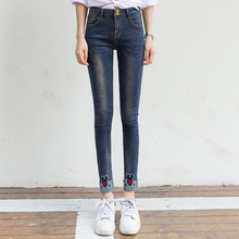 wangcangli Fashion Jeans women large thin size women pants slim jeans woman tights lady Jeans S-XL plus size jeans for women N23