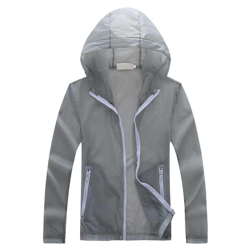 HEFLASHOR Защита от солнца на пляже анти-УФ мужские кожаные куртки 2019 Мужская модная летняя просторная легкая дышащая однотонная туристическая куртка