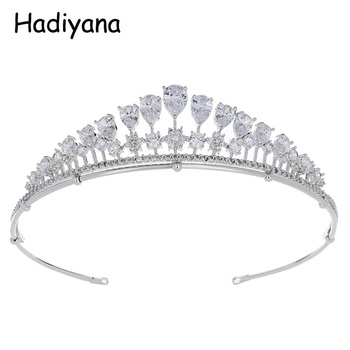 Hadiyana 2018 Newest Attractive Ladies Portable Crowns Tiara For Wedding Zirconia Bridal Jewelry With Cheap Price Tiaras HG6085