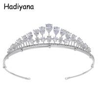 Hadiyana Newest Attractive Ladies Portable Crowns Tiara For Wedding Zirconia Bridal Jewelry With Cheap Price Tiaras HG6085