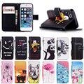 Color de la cubierta de goma para el iPhone 5 5S funda de silicona suave bolso del teléfono móvil del tirón de la PU cartera de cuero Stand con casos titular de la tarjeta