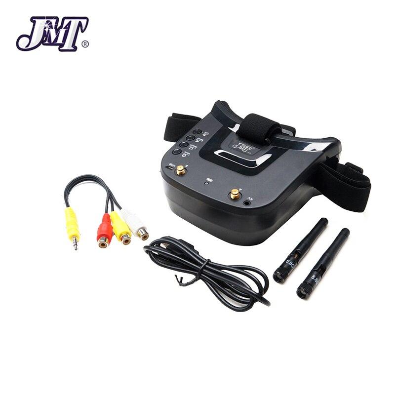 JMT Mini FPV lunettes 3 pouces Double antenne 5.8G 40CH intégré 3.7V 1200mAh batterie pour coureur quadrirotor Dron modèle