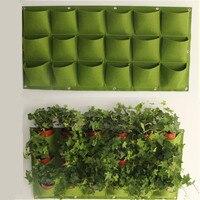 Impermeabile Appeso Sacchetti di Impianto 18 Tasche Verde Grow Bag Planter Vertical Garden Verdura Living Garden Bag Articoli Per La Casa Un