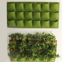 waterproof Hanging Planting Bags 18 Pockets Green Grow Bag Planter Vertical Garden Vegetable Living Garden Bag Home Supplies A