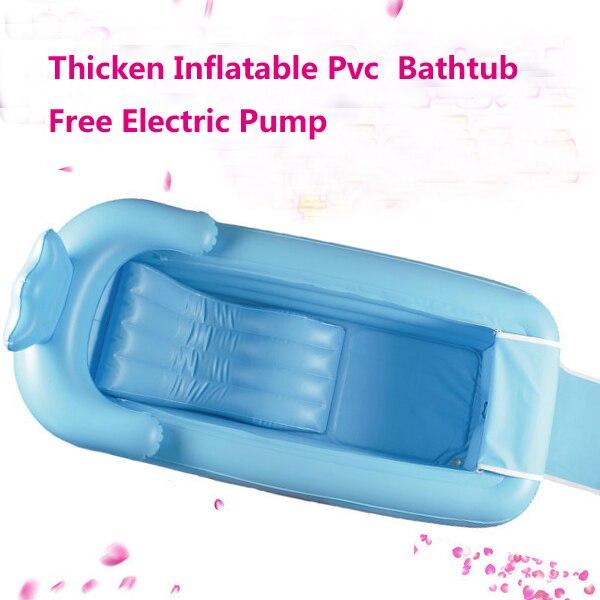 165x85x45 cm azul/púrpura grande bañera inflable engrosamiento bañera plegable para adultos PVC cubo grande de aislamiento con Cojines asiento