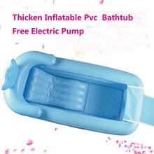 165x85x45cm große aufblasbare badewanne Verdickung erwachsene faltung wanne aus kunststoff große isolation eimer mit kissen sitz