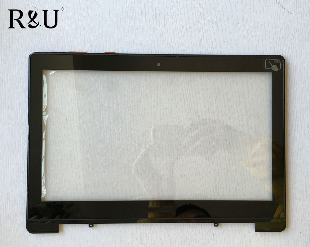 R&U test good touch screen digitizer with frame 13.3 Inch for ASUS S301 S301LA DA5308RA