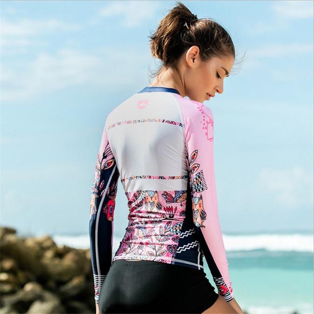 SBART 2017 Korean wetsuit women's snorkeling suit split jacket sunscreen clothing surfing jacket long sleeved swimsuit swimwear