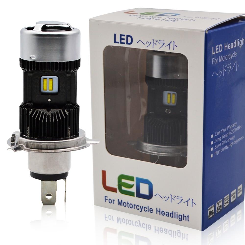 Safego 1pcs H4 LED Motorcycle Headlight Bulbs Hi Lo 3000LM 6000K 30W Led Moto Motorbike Headlamp Lighting Electric Car Lights