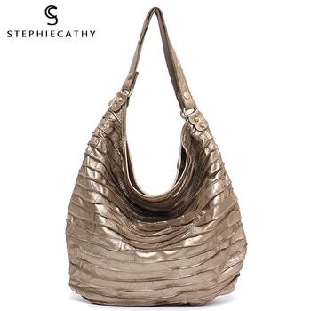 SC الحقيقي الأغنام الجلد جلد شريط الأفاق المرأة قدرة كبيرة الأفاق حقيبة كتف عارضة خليط حقيبة كروس من الجلد الطبيعي