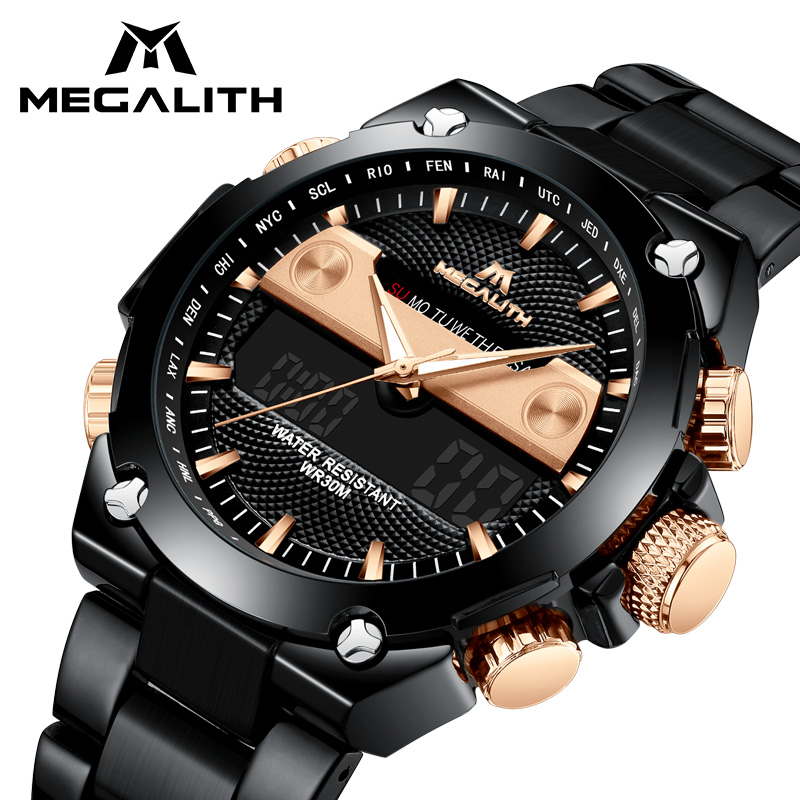 MEGALITH Luxury Digital Watches Men Military Sports