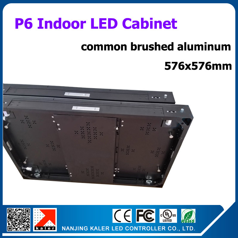 TEEHO High quality brushed aluminum led display cabinet 576x576mm indoor SMD3528 p6 led cabinet rental led display boardTEEHO High quality brushed aluminum led display cabinet 576x576mm indoor SMD3528 p6 led cabinet rental led display board