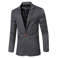2016 Autumn And Winter Men Business Formal Men Fashion Striped Jacket Slim Fit Suit Blazer Brand
