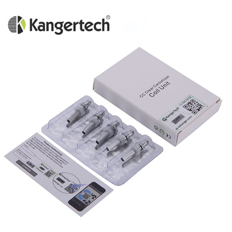 5pcs/lot Genuine Kanger T3S Coils Heating Coil 1.8ohm 2.2ohm 2.5ohm Atomizer Core Replacement T3s Head Coils MT3 Coil