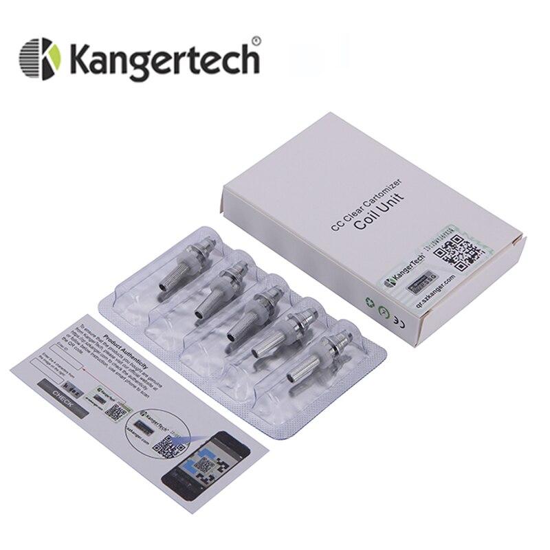 5pcs/lot Genuine Kanger T3S Coils Heating Coil 1.8ohm 2.2ohm 2.5ohm Atomizer Core Replacement T3s Head Coils MT3 Coil