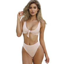 Free Shipping Women Swimwear Push Up Sexy Bandage High Waist Bikini