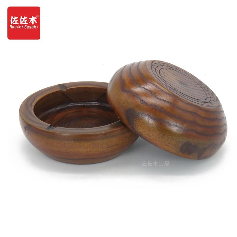 Купить с кэшбэком Classical Chinese luxury hotel bar creative large ashtray garbage cylinder made of solid wood cigarette  10-16cm