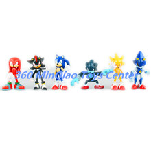 New Arrived Sonic the Hedgehog Sonic / Shadow / Tails / Knuckles PVC Action Figures Collectible Model Toys 6pcs/set 6~7cm WU750