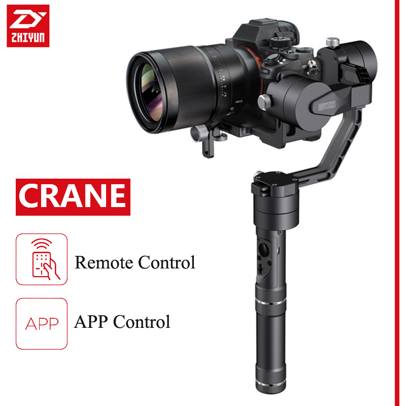 950g Zhiyun Crane 3 Axis Handheld Gimbal Stabilizer For Mirrorless DSLR Camera Support App Remote Control 1800g With Battery x cam sight2 2 axis smartphone handheld stabilizer mobile phone brushless gimbal with bluetooth for iphone samsung xiaomi nexus