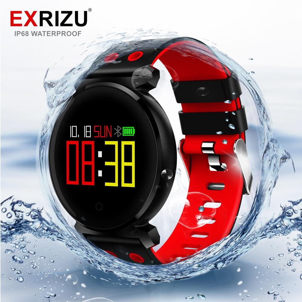EXRIZU Bande K2 IP68 Étanche Bluetooth Smart Bracelet Moniteur De Fréquence Cardiaque Podomètre 0.95