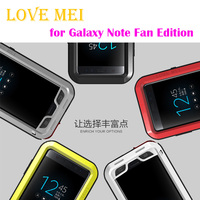 LOVE MEI Metal Case For Samsung Galaxy Note FE Powerful Aluminum Shockproof Life Waterproof Cover For Fan Edition Outdoor Shell