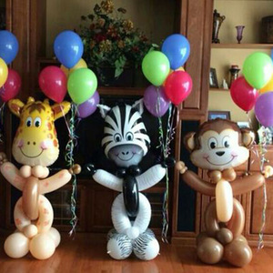 Image 5 - Dschungel tier ballon set geburtstag party dekorationen kinder zoo Safari tier luftballons dschungel party liefert decor