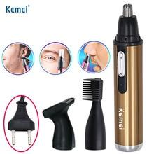 Kemei Мода Электрический бритья волос в носу триммер безопасный уход за лицом триммер для бритья Триммер для носа тример