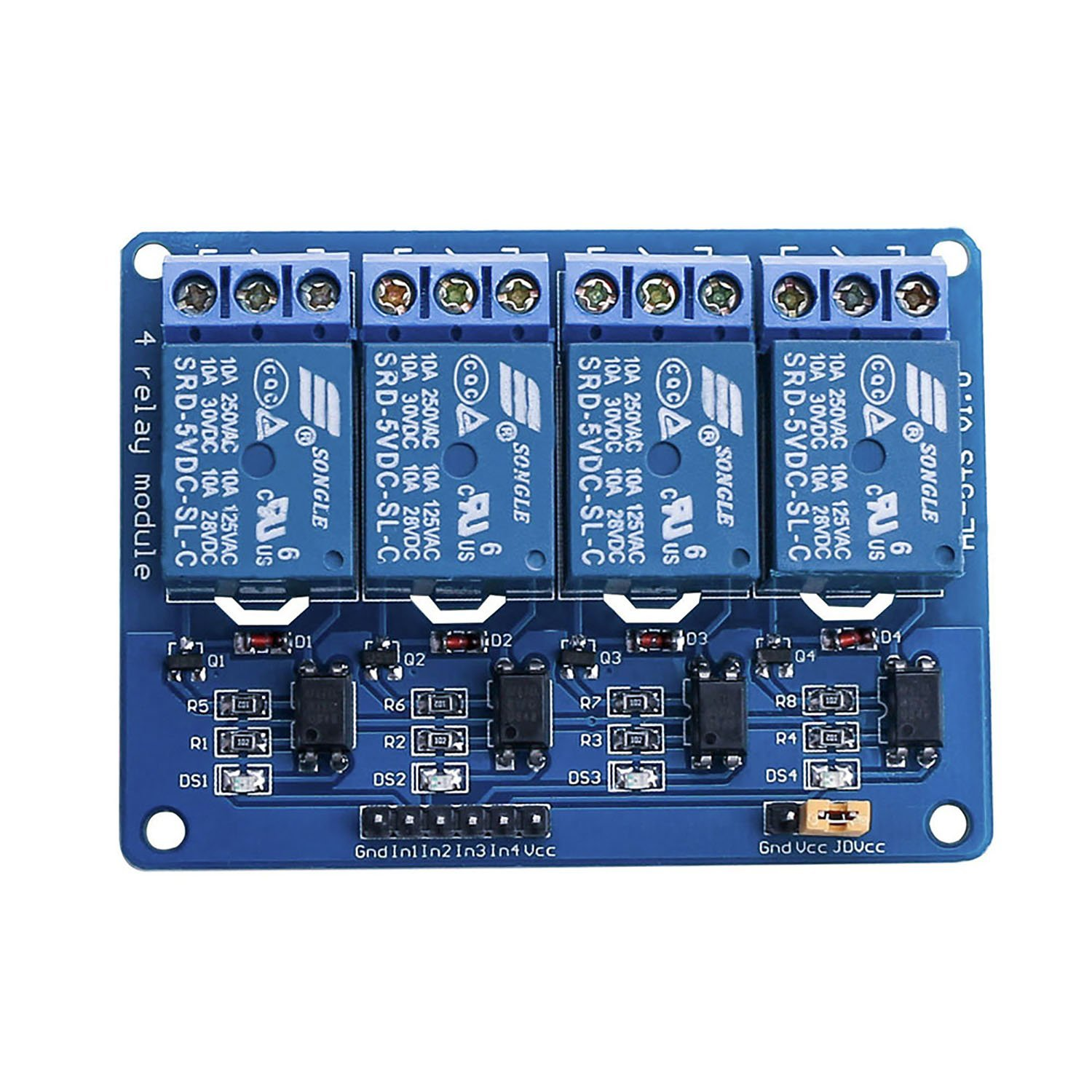 4 Channel Dc 5v Relay Module With Optocoupler For Arduino Uno Kit In Sainsmart 8 Wiring Diagram Aeproductgetsubject