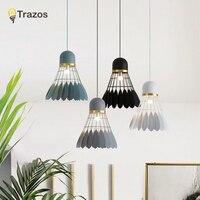 Nordic Simple Bar Hanging Lamp Badminton Pendant Light Restaurant Bedroom Bedside Lights Modern Art And Creative