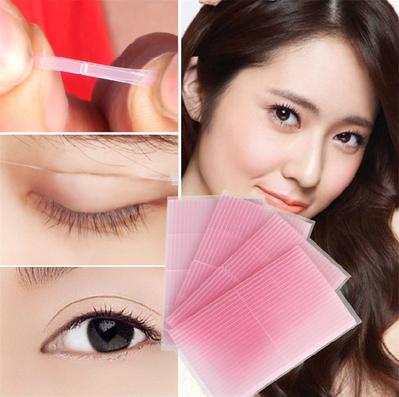 88pcs/lot Invisible Double Eyelid Fiber Magic Eye Stickers Stretch fold Lift Adhesive Strips double sided eyelid tape SP-1008