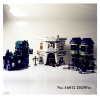 Lepin 16012 Limited Edition Harry Potter Series The Diagon Alley Set 10217 Minifigures Educational Building Blocks