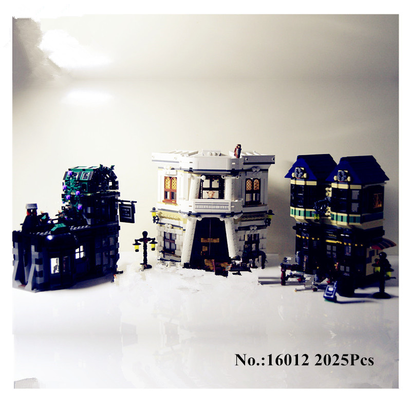 In-Stock H&HXY 16012 2025Pcs Limited Edition Harry Potter Series The Diagon Alley Educational Lepin Building Blocks Bricks Toys rowling j harry potter and the philosopher s stone ravenclaw editionhardcover