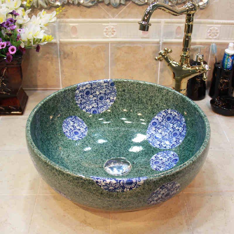 Lavabo In Ceramica Per Esterno.Jingdezhen Fabbrica Direttamente Di Arte Dipinta A Mano Lavabo In