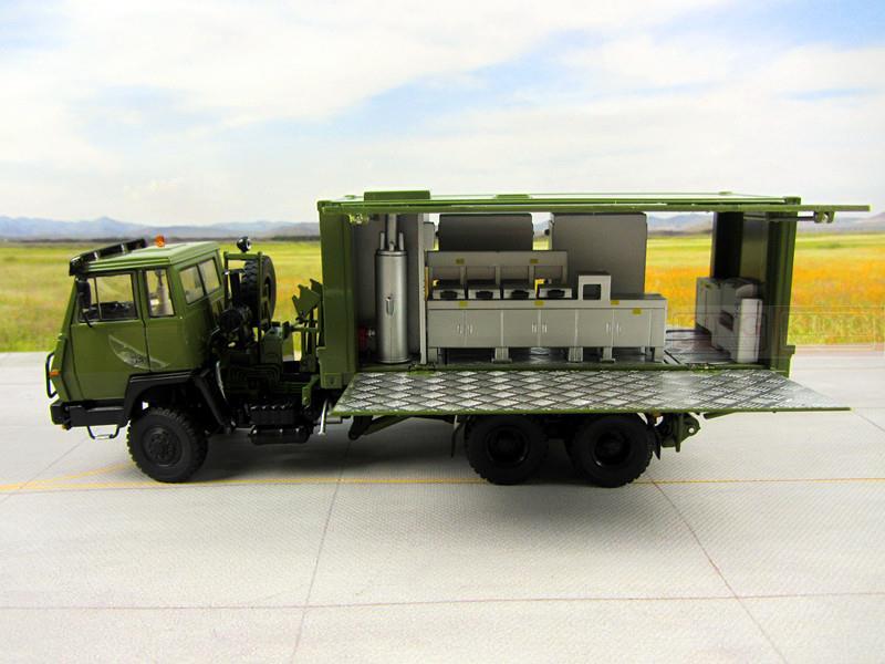 1:43 échelle Steyr Récipient de Cuisson camion pour armée Chinoise Militaire Shan Xi Automobile PLA lourd Cuisson camion