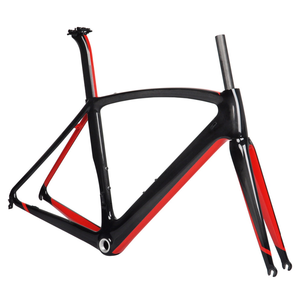 49cm BB86 Bicycle Frame Fork Carbon Road Seatpost Race 700C UD matt glossy