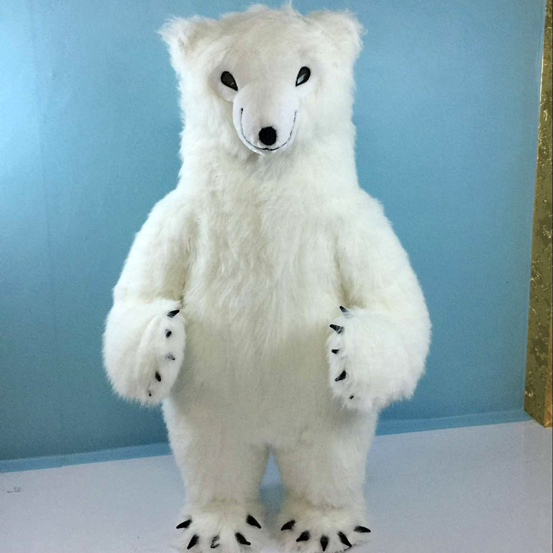 Inflatable Costume Polar Bear for Advertising 2M Tall Customize For Adult Suitable For 1.6 m To 1.8m Adult For halloween