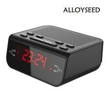 Радио-часы повтор звуковой fm-радио времени будильник компактный сигнал таймер современный сна