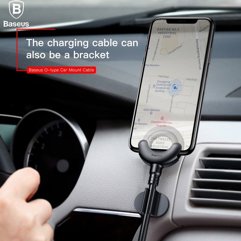 Baseus font b Car b font Phone Holder for iPhone X 8 7 6 5S 360