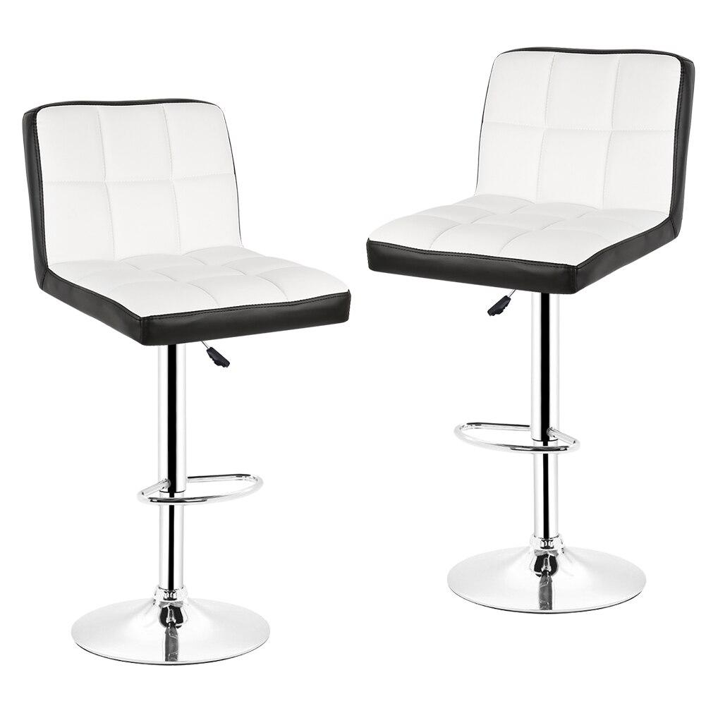 2 pièces moderne chaise de Bar pivotant réglable tabouret haut chaise de Bar en cuir PU tabouret de Bar maison cuisine salon décor meubles HWC