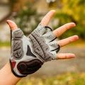 GUB Endurance Cycling Gloves Bicycle Bike Fingerless Gloves Silicone Half/Short Finger Extra Gel Gloves Double Gel-Vent Padding