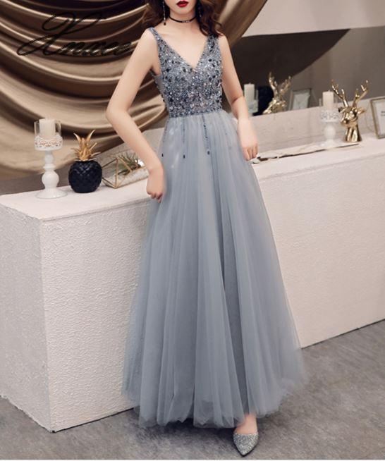 2019 nieuwe vrouwen jurk eenvoudige en royale lange jurk temperament jurk-in Jurken van Dames Kleding op  Groep 3