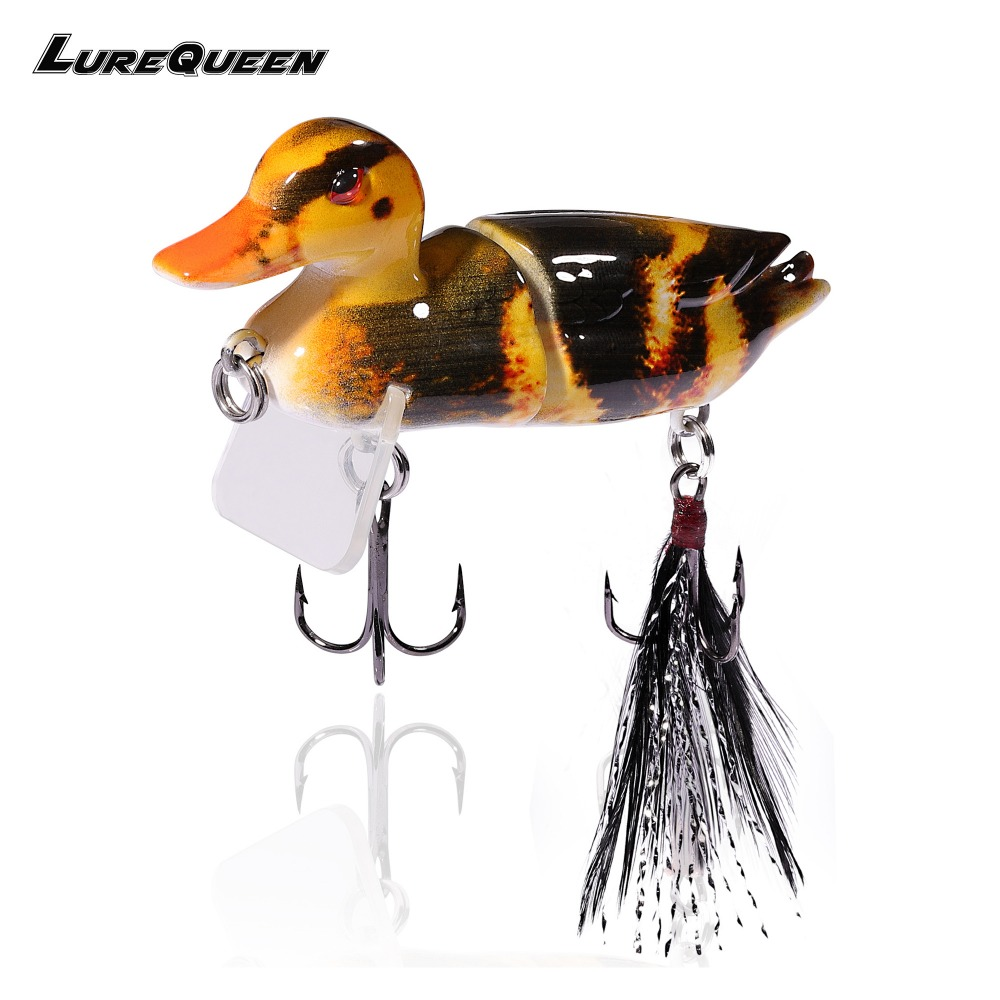 7cm 10g Topwater Floating Lures Duck Fishing Baits with Hooks Jointed Hard Bait Bass Fishing Lure Wobblers 3D Swimbaits Peche
