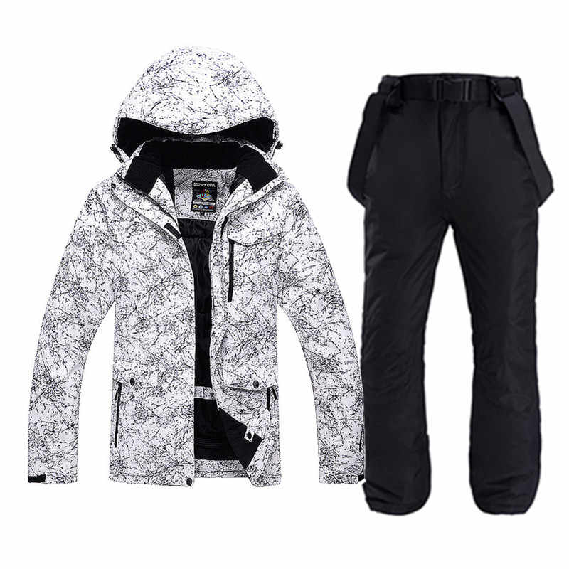 Winter Thicken Warm  For Men & Women Ski Suit Jacket+Pants  Waterproof Snowboarding set  Windproof Couple Snow outdoor Clothes